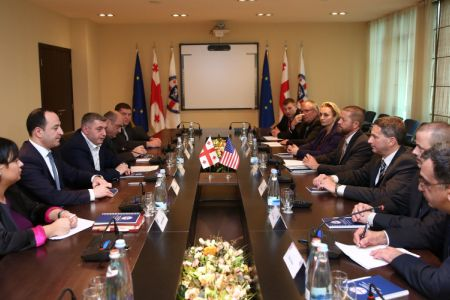 Kakha Kakhishvili met with the Director of the Bureau of International Narcotics and Law Enforcement and the Delegation of the Wisconsin State